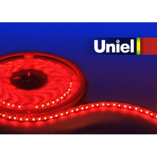 Светодиодная лента UNIEL ULS-3528-120LED/m-8mm-IP20-DC12V-9,6W/m-5M-RED