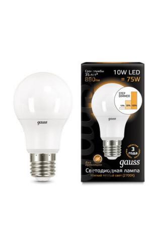 Лампа диммируемая светодиодная Gauss 102502110-S Е27 10W 2700K
