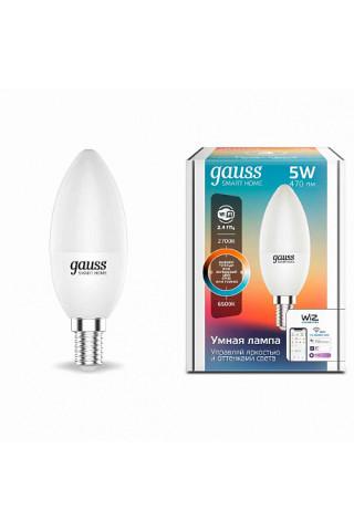 Лампа диммируемая светодиодная Gauss 1110112 Е14 5W 2700-6500K