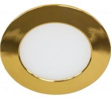 Светильник светодиодный встраиваемый FERON AL500 6W 6400K золото