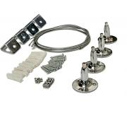 Комплект подвесов ASD LP-КПТ на тросах для панели светодиодной, 4690612001395