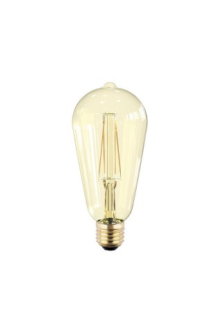 Лампа светодиодная ASD LED-ST64-PREMIUM 6Вт 220В Е27 3000К 540Лм золотистая