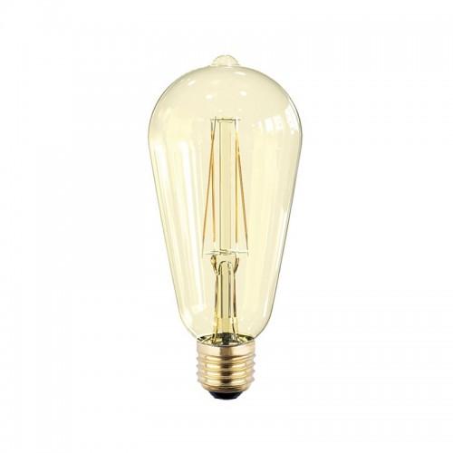 Лампа светодиодная ASD LED-ST64-PREMIUM 8Вт 220В Е27 3000К 720Лм золотистая