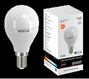 Лампа LED GAUSS 53116 E14 6W 3000K матовая,  53116