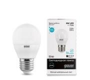 Лампа LED GAUSS 53228 E27 8W 4100K матовая,  53228