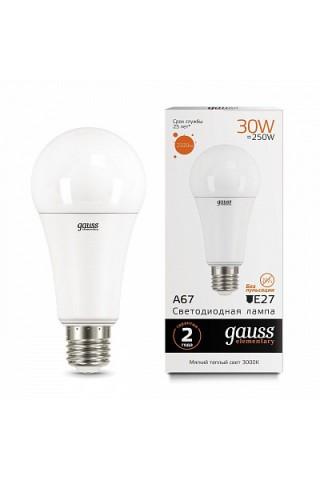 Лампа LED GAUSS 70215 E27 35W 3000K матовая