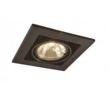 Встраиваемый светильник ARTE LAMP A5930PL-1BK Cardani