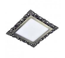 Светильник светодиодный встраиваемый DONOLUX DL18153/3000-Antique silver SQ