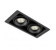 Светильник встраиваемый Donolux DL18615/02WW-SQ Shiny black/Black