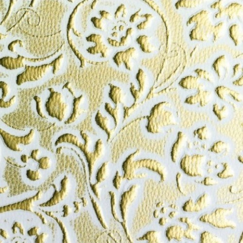 Декоративная панель SIBU LL FLORAL White/Gold mat (с клеевой основой)