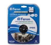 Светодиодная лента 27902 FERON 4,8 W/m IP20 12V LS603 c блоком питания, 27902