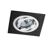 Светильник встраиваемый MEGALIGHT SAG 103-4 black/silver