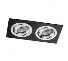 Светильник встраиваемый MEGALIGHT SAG 203-4 black/silver