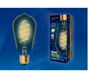 Лампа светодиодная Vintage LED-ST64-4W/GOLDEN/E27/CW GLV22GO, UL-00001819