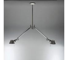 Светильник подвесной A036400 ARTEMIDE Tolomeo sospensione due bracci alluminio