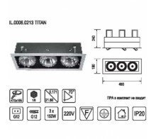 Встраиваемый светильник IMEX IL.0006.0213