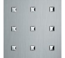 Декоративный пластик SIBU 3D Q-10-40-40 Silver brushed-Silver