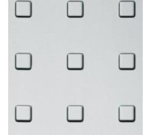 Декоративный пластик SIBU Square 15/50 Silver PF met