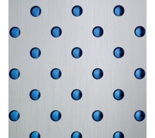 Потолочная плита SIBU 3D HV-13-50-50 Silver brushed/Blue