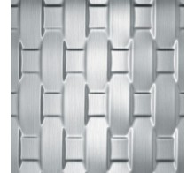 Декоративная панель SIBU RATTAN 20 Silver brushed