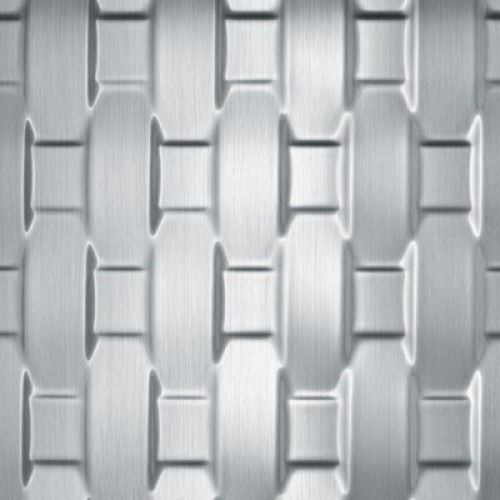 Декоративная панель SIBU RATTAN 20 Silver brushed (без клеевой основы)