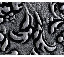 Декоративный пластик SIBU LL FLORAL Black/Silver mat