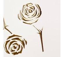 Декоративный пластик SIBU PL 3D ROSES Pearl/White/Gold
