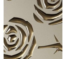 Декоративный пластик SIBU 3D ROSES Champagner PF met/Gold