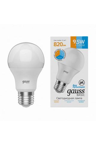 Лампа диммируемая светодиодная Gauss 1023240 Е27 9,5W 3000-4000-6500K