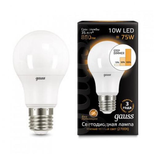 Лампа диммируемая светодиодная Gauss 102502210-S Е27 10W 4100K