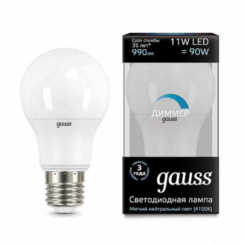 Лампа диммируемая светодиодная Gauss 102502211-D Е27 11W 4100K
