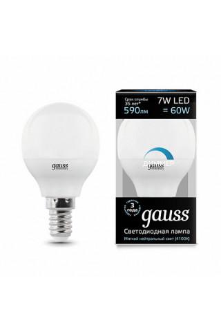 Лампа диммируемая светодиодная Gauss 105101207-D Е14 7W 4100K