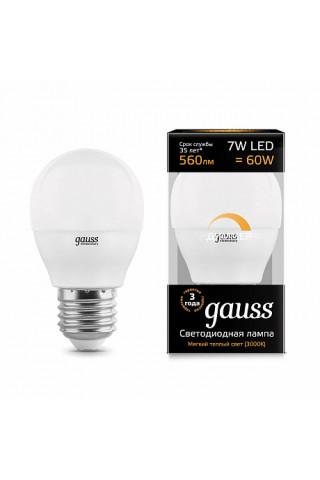 Лампа диммируемая светодиодная Gauss 105102107-D Е27 7W 3000K