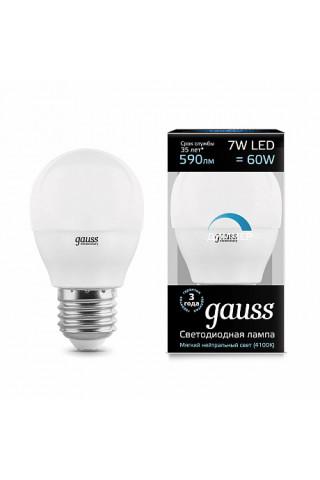 Лампа диммируемая светодиодная Gauss 105102207-D Е27 7W 4100K
