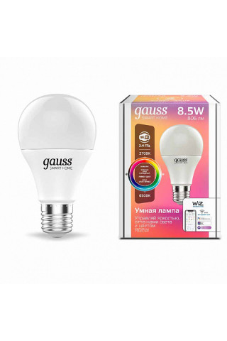 Лампа диммируемая светодиодная Gauss 1170112 Е27 8,5W 2700-6500K
