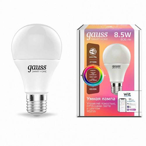 Лампа диммируемая светодиодная Gauss 1170112 Е27 8,5W 2700-6500K, 1170112