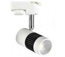 Трековый светодиодный светильник 8Вт 4200К HЕ836L-W однофазный