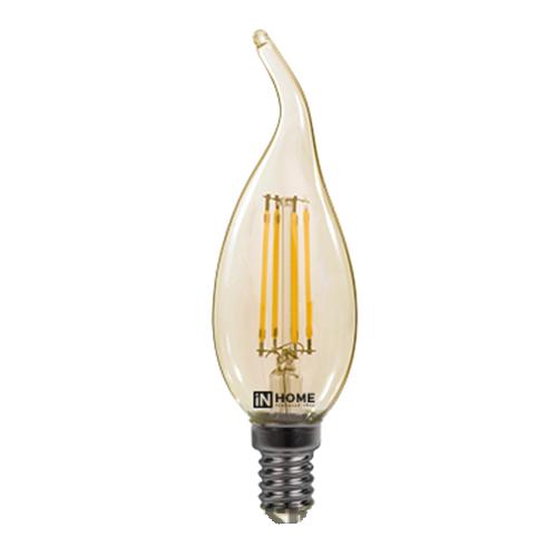 Лампа светодиодная ASD LED-СВЕЧА НА ВЕТРУ-DECO 5ВТ 230В Е14 3000К 450ЛМ золотистая