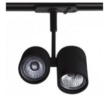 Трековый светильник GU10 8141 BLACK однофазный трехжильный