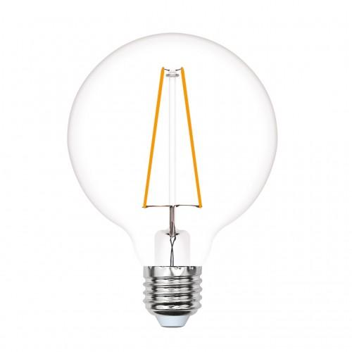 Лампа светодиодная LED-G125-10W/WW/E27/CL PLS02WH прозрачная