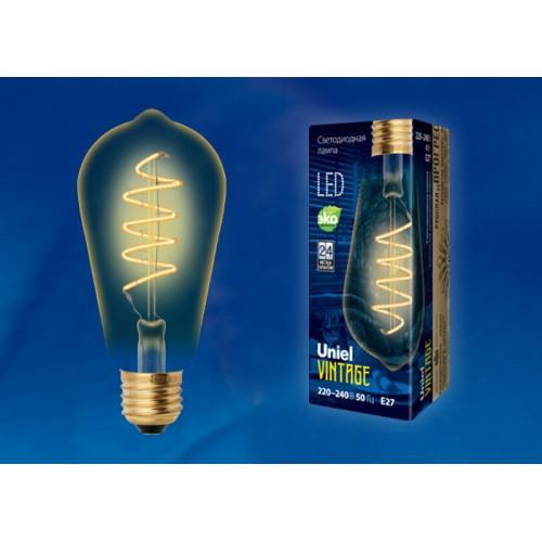 Лампа светодиодная Vintage LED-ST64-4W/GOLDEN/E27/CW GLV22GO