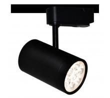 Трековый светодиодный светильник 7W 4000K A6107PL-1BK однофазный